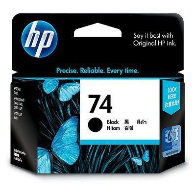 Image of Hp 74 Black Ink Cartridge (cb335wa)