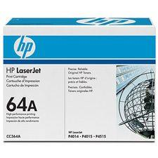 Image of Hp 64a Laserjet Black Print Cartridge 10kpages (cc364a)