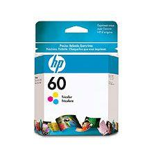 Image of Hp 60 Tri-color Ink Cartridge 165 Pages (cc643wa)