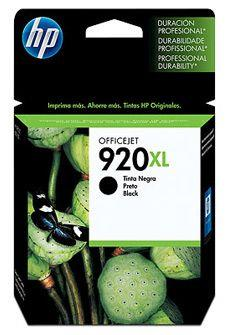 Image of Hp 920xl Black Officejet Ink Cartridge, 1200 Pages (cd975aa)