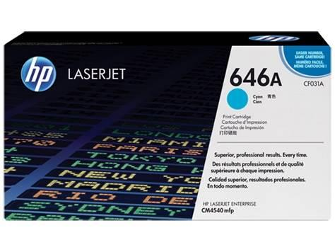Image of Hp Cf031a 646a Cyan Original Laserjet Toner Cartridge