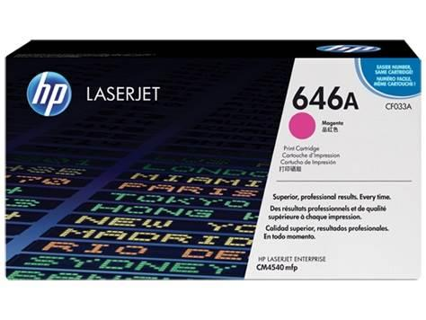 Image of Hp Cf033a 646a Magenta Original Laserjet Toner Cartridge