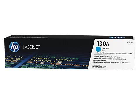 Image of Hp 130a Cyan Laserjet Toner Cartridge-m153/m176/m177 [cf351a]