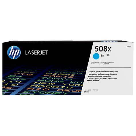 Image of Hp 508x High Yield Original Cyan Laserjet Toner