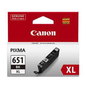 Image of Canon Cli651xl Black Ink Cart 5530 A4 Pages (iso/iec 24711) Black