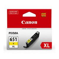 Image of Canon Cli651xl Yellow Ink Cart 695 A4 Pages (iso/iec 24711) Yellow