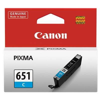 Image of Canon Cli651 Cyan Ink Cart 332 A4 Pages (iso/iec 24711) Cyan