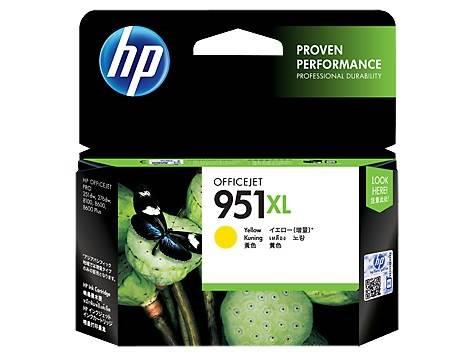 Image of Hp Cn048aa 951xl High Yield Yellow Original Ink Cartridge, Up To 1500 Pages