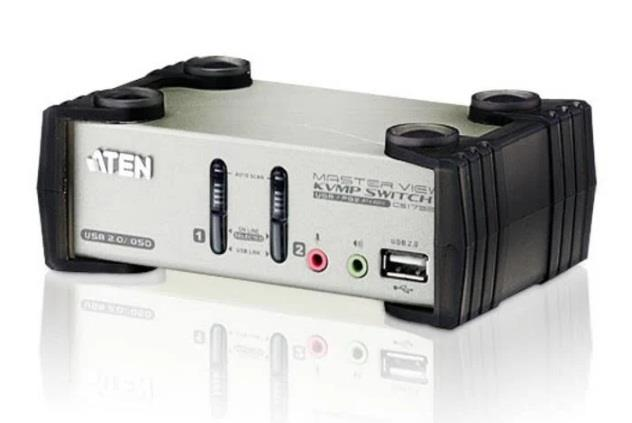 Image of Aten Cs1732b-at-u 2 Port Usb Kvmp Switch With Audio And Osd / Usb 2.0 Hub - Cables Included