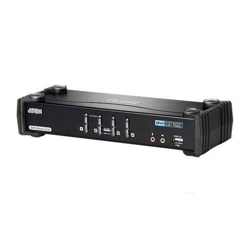 Image of Aten Cs-1784a 4 Port Usb Dual-link Dvi Kvmp Switch