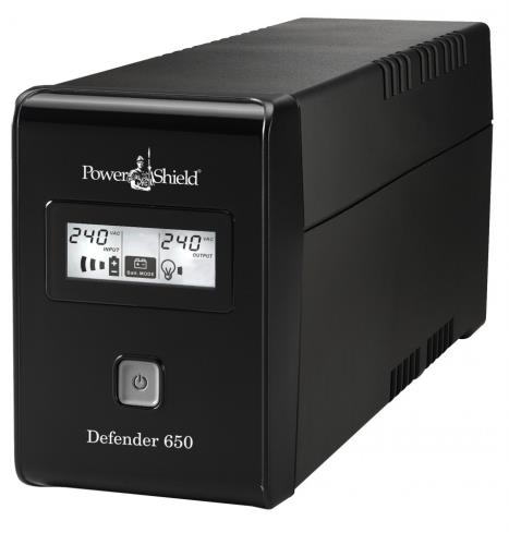 Image of Powershield Defender 650va / 390w Line Interactive Ups Fanless Avr Prote