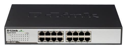 Image of D-link Dgs-1016d 16-port Gigabit Unmanaged Switch - Durable Metal Housing