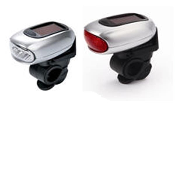Image of Dynamo Solar Led Bicycle Lamps (front And Rear)