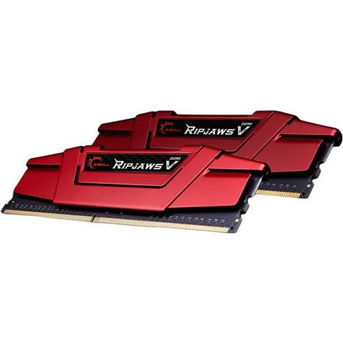 Image of G.skill F4-2400c15d-16gvr Ripjaws V 16gb (2x 8gb) Ddr4 2400mhz Memory Red