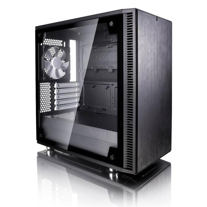 Image of Fractal Design Define Mini C Tg Tempered Glass Mid-tower Micro-atx Case Fd-ca-def-mini-c-bk-tg