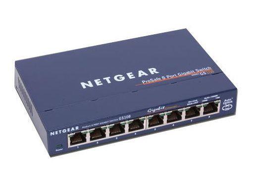 Image of Netgear Gs108 Prosafe 8 Port 10/100/1000 Gigabit Switch
