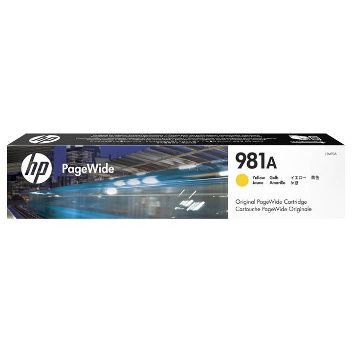 Image of Hp 981a Yellow Original Pagewide Cartridge (j3m70a)