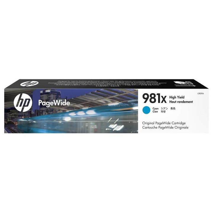 Image of Hp 981x High Yield Cyan Original Pagewide Cartridge (l0r09a)