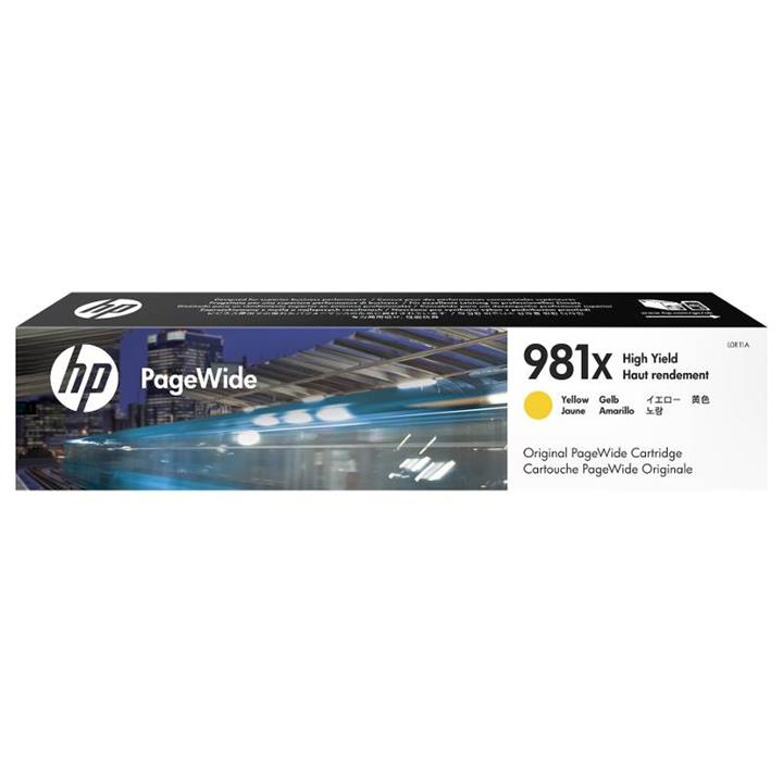 Image of Hp 981x High Yield Yellow Original Pagewide Cartridge (l0r11a)