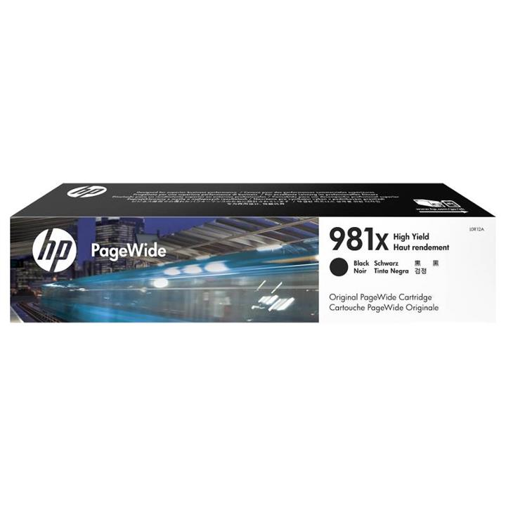 Image of Hp 981x High Yield Black Original Pagewide Cartridge (l0r12a)