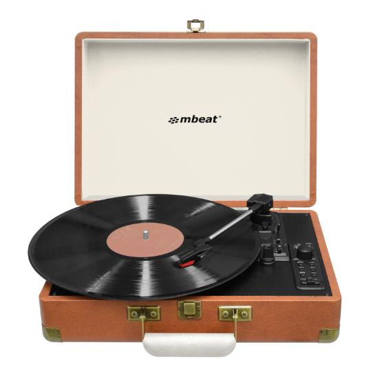 Image of Mbeat Retro Turntable Recorder With Bluetooth And Usb Direct Recording Mb-usbtr128