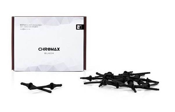 Image of Noctua Na-sav2-black Black Chromax Na-sav2 Anti Vibration Mounting Bolts (20 Pack)