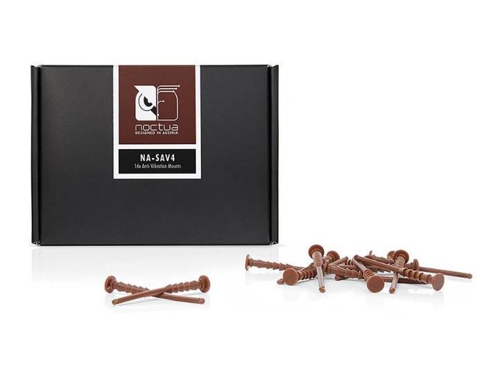 Image of Noctua Na-sav4 Brown Na-sav4 Anti Vibration Mounting Bolts (16 Pack)