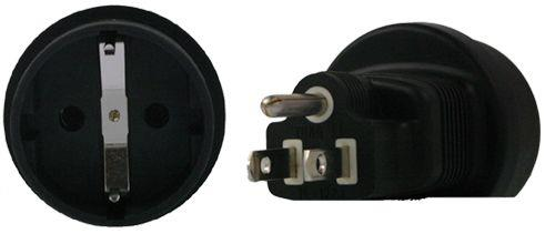 Image of Schuko To Us 3 Pin Plug Adapter