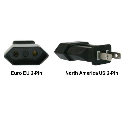 Image of Euro Eu To Us 2-pin Power Plug Adapter