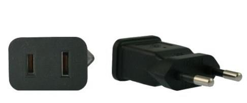 Image of North America Us To Euro Eu Power Adapter Plug