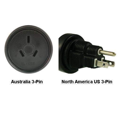 Image of Australia To North America Us 3-pin Power Adapter Plug