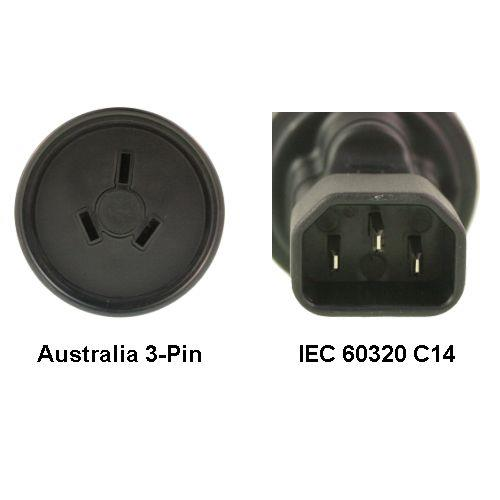 Image of Au To Iec 60320 C14 Power Plug Adapter