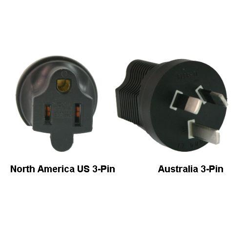 Image of North America Us 3-pin To Australia Power Adapter Plug