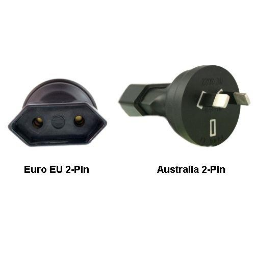 Image of Euro Eu To Australia 2-pin Power Plug Adapter