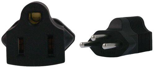 Image of Us 3 Pin To Swiss 3 Pin Plug Adapter