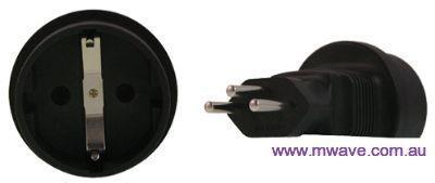 Image of Schuko To Swiss 3 Pin Plug Adapter