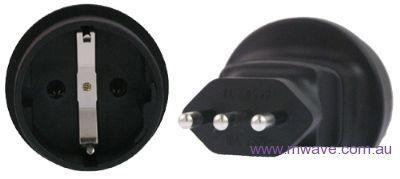 Image of Schuko To Italy 3 Pin Plug Adapter