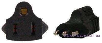 Image of Us 3 Pin To Italy 3 Pin Plug Adapter