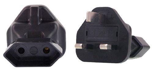 Image of Eu 2 Pin To Uk Plug Adapter
