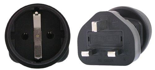 Image of Schuko To Uk 3 Pin Plug Adapter