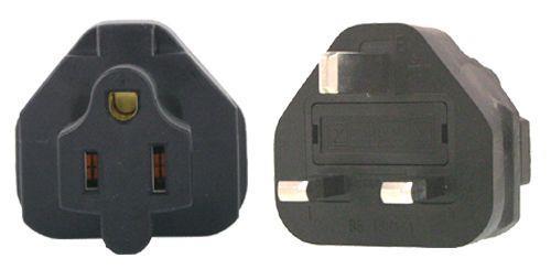 Image of Us 3 Pin To Uk 3 Pin Plug Adapter
