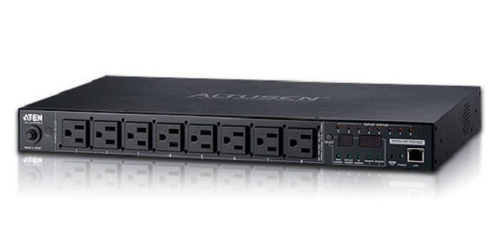Image of Aten 8-port 10a Eco Power Distribution Unit - Pdu Over Ip, 1u Rack Mount Design, Control And Monitor Power Status (pe6108g)