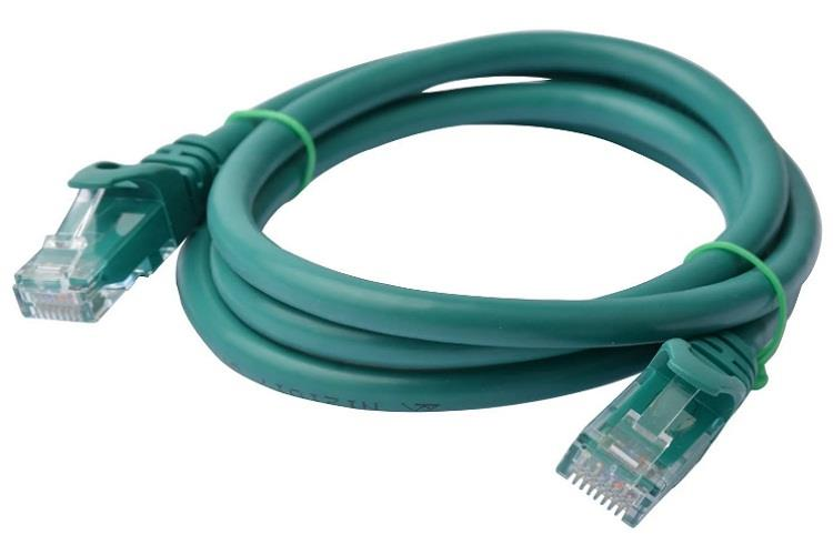 Image of 8ware Cat 6a Utp Ethernet Cable, Snagless� - 1m (100cm) Green