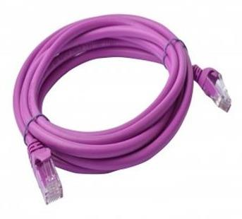 Image of 8ware Cat 6a Utp Ethernet Cable, Snagless - 5m Purple