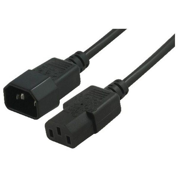 Image of Power Cable Extension Iec-c14 Male - Iec-c13 Female Pc To Monitor 1meter