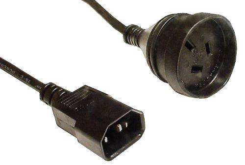 Image of 8ware Power Cable Extension 15cm 3-pin Au To Iec C14 Female To Male