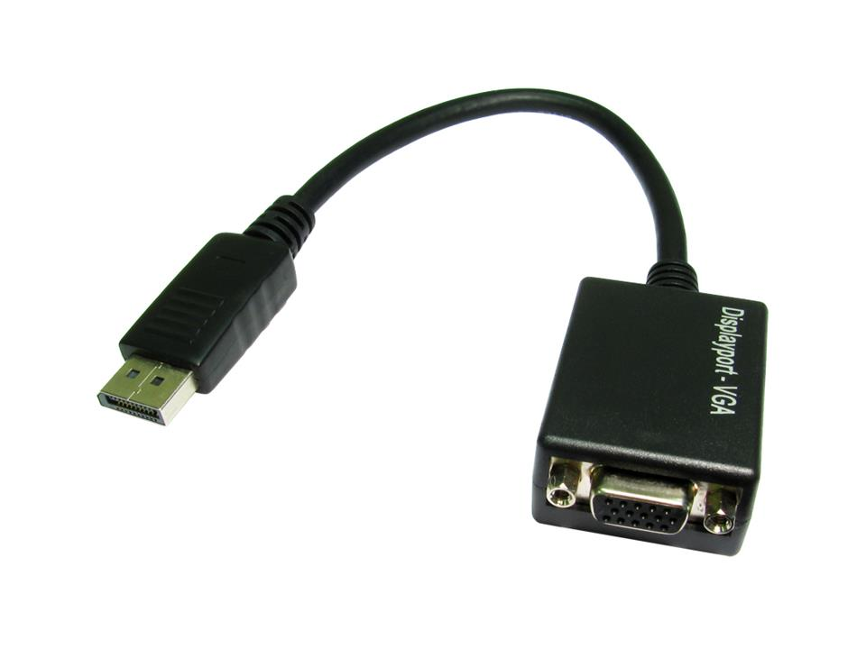 Image of Cable Adapter Display Port Male To Vga Female 15cm Passive S054b