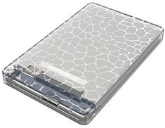 Image of Simplecom Se101 Compact Tool-free 2.5'' Sata To Usb 3.0 Hdd/ssd Enclosure Clear