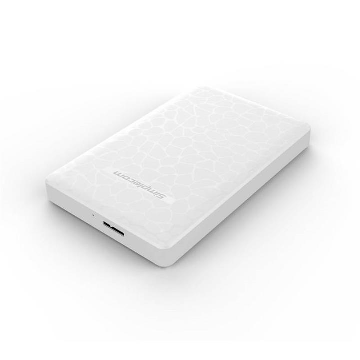Image of Simplecom Se101 Compact Tool-free 2.5'' Sata To Usb 3.0 Hdd/ssd Enclosure White