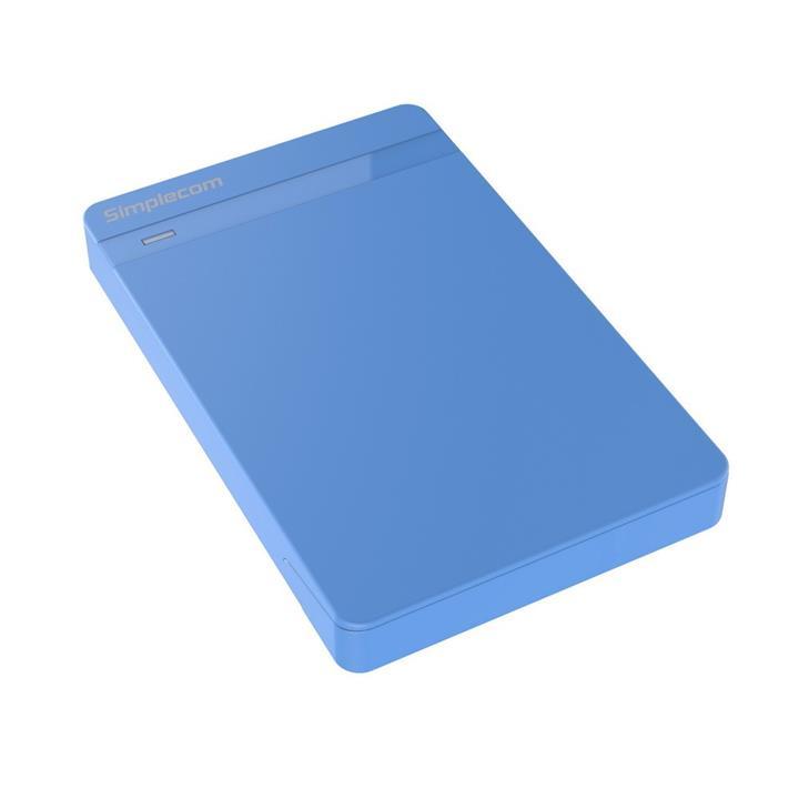 "Image of Simplecom Se203 Tool Free 2.5"""" Sata Hdd Ssd To Usb 3.0 Hard Drive Enclosure Blue"